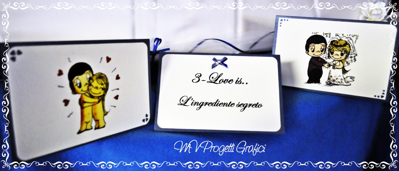 SEGNATAVOLI LOVE IS TEMA BLU ROYAL VARI2