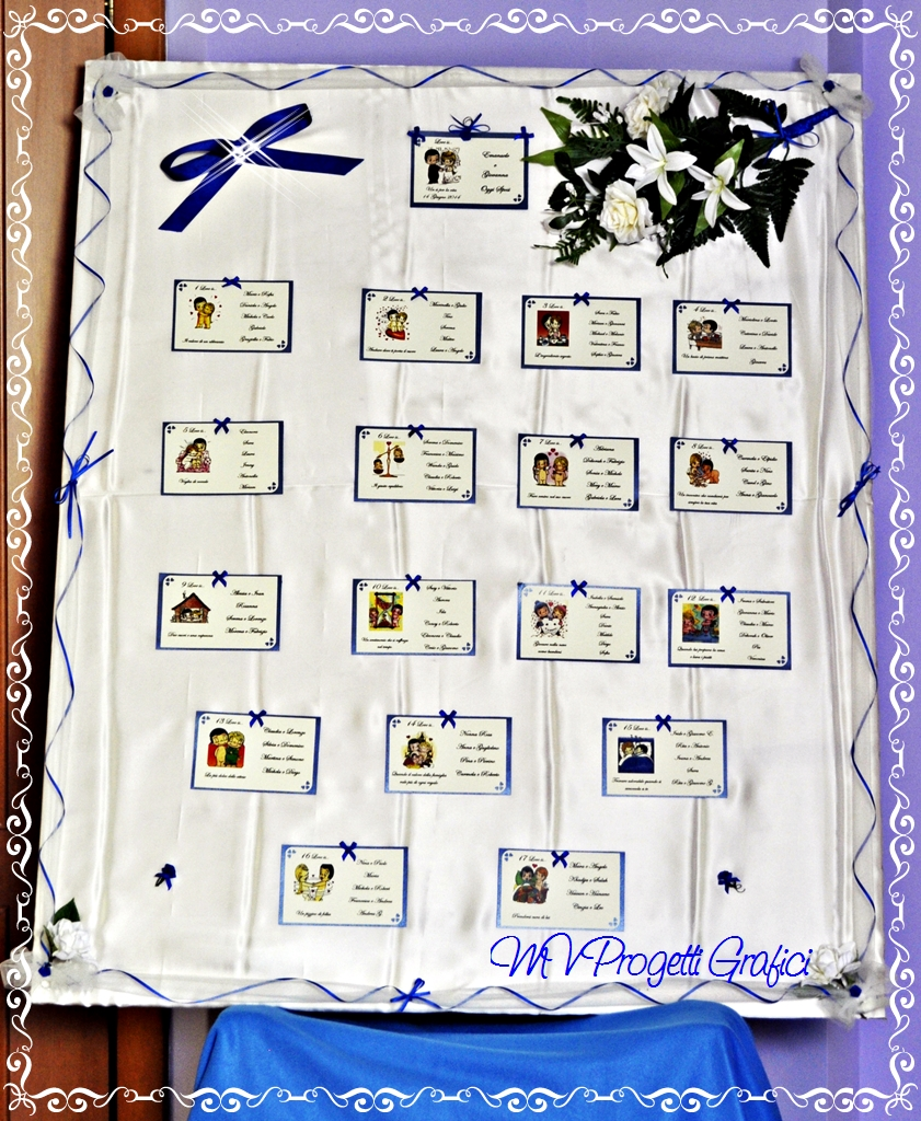 TABLEAU LOVE IS TEMA BLU ROYAL