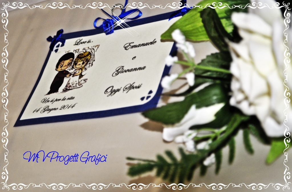 TABLEAU LOVE IS TEMA BLU ROYAL DETT SPOSI